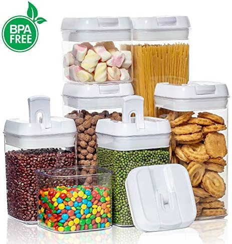 51 VHG o8GL. AC Airtight Food Storage Containers,Vtopmart 7 Pieces BPA Free Plastic Cereal Containers with Easy Lock Lids,for Kitchen Pantry Organization and Storage,Include 24 Free Chalkboard Labels and 1 Marker    Product Description