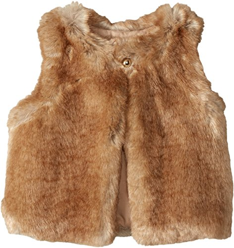 Chloe Kids Girl's Sleeveless Faux Fur Vest (Little Kids) Nude 4 (Little Kids) by Chloe