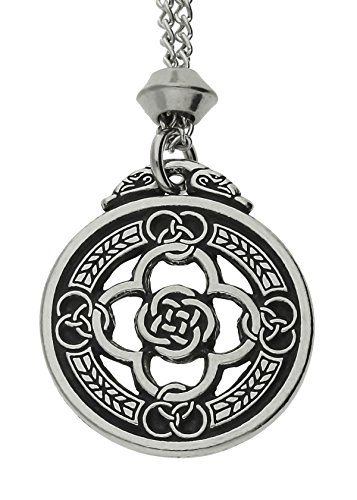 Handmade Celtic Knot Warrior's Shield Quatrefoil Pewter Pendant ~ Protection (with 22 inch Chain) (Celtic Warrior Knot)
