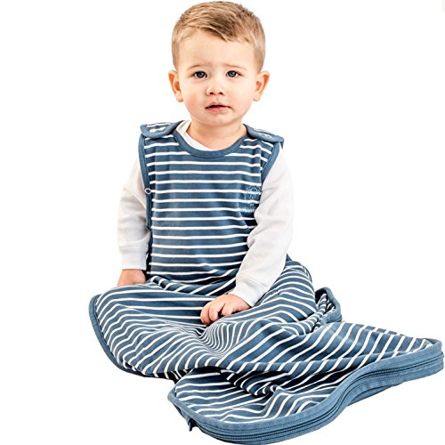 Woolino Toddler Sleeping Bag, 4 Season Merino Wool Baby Sleep Bag or Sack, 2-4 Years, Navy Blue by Woolino