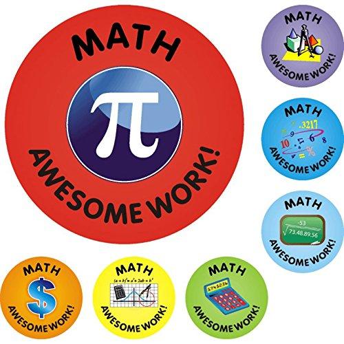 140 Math Awesome Work Reward Praise Stickers Teacher Parents Children supplier