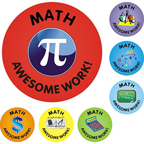 140 Math Awesome Work Reward Praise Stickers Teacher Parents Children
