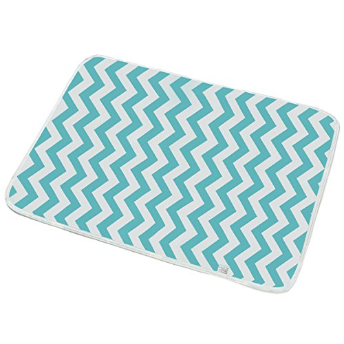 Portable Diaper Changing Pad – V-Fyee Reusable Waterproof Sheet Crib Mattress Mat for Stroller – Baby Changing Mat for Home and Travel – M Size 19.6″ x 27.5″ (Chevron)