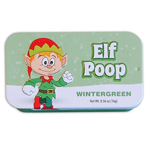 Funny Christmas Mints - Elf Poop - Wintergreen Flavored Mints - White Elephant Gift ()