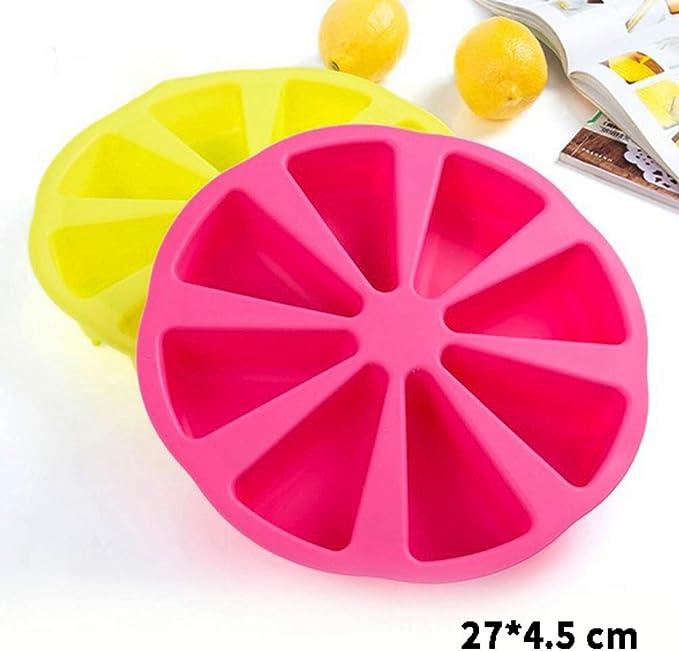 Odoukey Kerzengie/ßform Silikon 3D-W/ürfel Kuchen Backform wei/ß Silikon-Geleeform Backger/ät Muffin Gelee Tablett Parteidekoration Sugar DIY