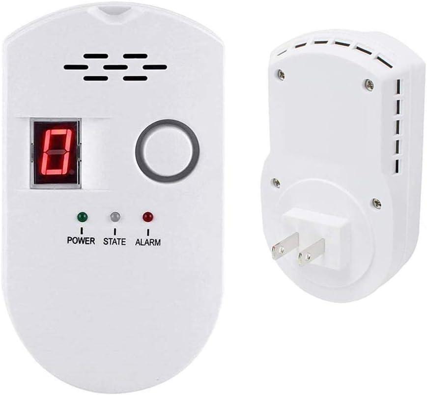 Propane Natural Digital Gas Detector, Gas Leak Detection, Home Gas Alarm, Plug-in Digital Alarmer, High Sensitivity LPG LNG Coal Natural Gas Leak Detection, Alarm Monitor Sensor for Home Kitchen