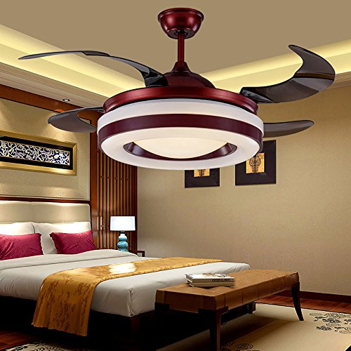 Huston Fan Red Ceiling Fan-Modern Style with 42 Inch Remote Control-Suitable for BedroomLiving Room and Study