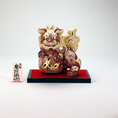 【九谷焼】 5号立獅子(台、木札付) 盛 B01LYTZDFT
