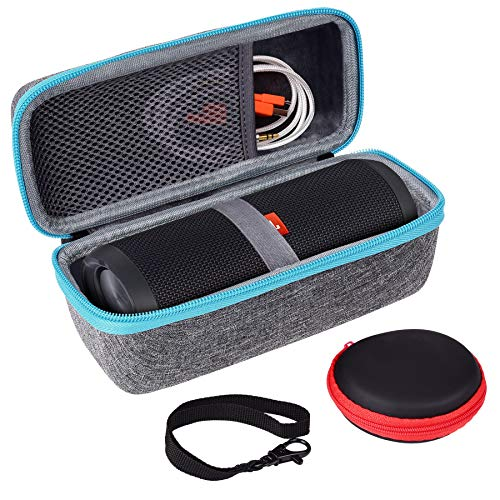 Case Compatible with JBL Flip 3 Flip 4 Bluetooth Speaker by SKYNEW,Light Grey