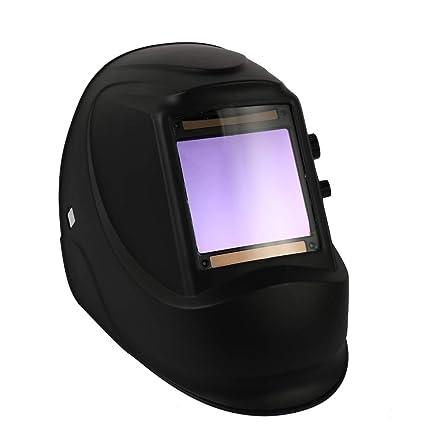 KKmoon Máscara de soldadura de atenuación automática de energía solar Casco de soldadura por puntos TIG