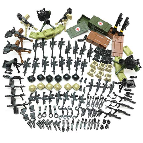 ZHX Weapon Box Pack Military Army Set Parts Gun Accessories Building Blocks Brick Kits ()