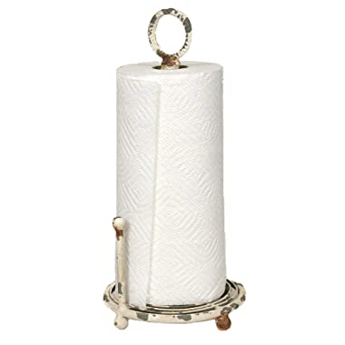 Provincial Paper Towel Holder in Antique White