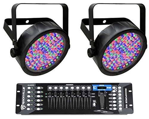 2 Chauvet DJ SlimPAR 56 IRC IP LED Wash Lights IP65 Outdoor Rated+DMX Controller - Dmx 512 Outdoor Wash