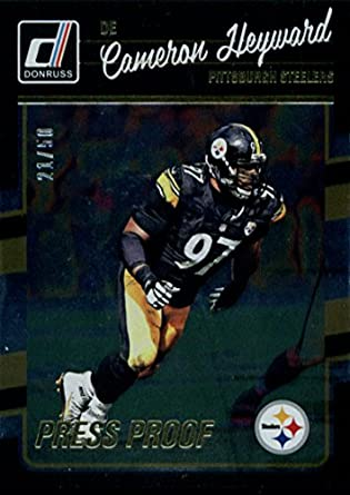 7e0e6e680 Amazon.com  2016 Donruss Press Proofs Gold  240 Cameron Heyward 21 50 Pittsburgh  Steelers  Collectibles   Fine Art