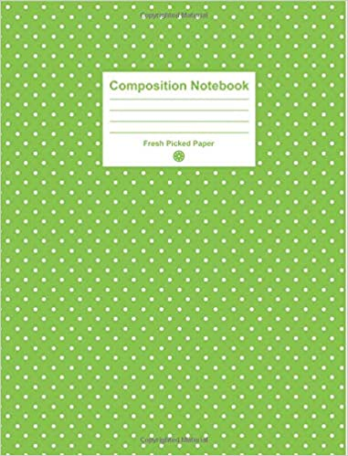 Composition Notebook: Cute College Ruled Notebook with Lime