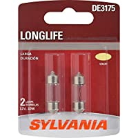 SYLVANIA DE3175 Long Life Miniature Bulb, (Contains 2 Bulbs)