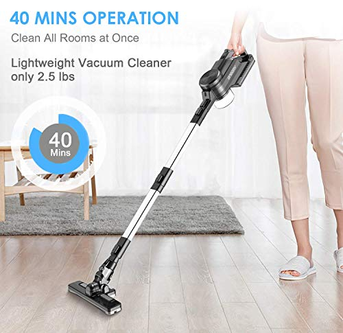 oneday Cordless Vacuum Cleaner, Handheld Vacuum Wet and Dry for Use Rechargeable 8.5kPa Double Cyclonic Suction with 9 Attachments for Home/Car/Pet/Hair/Window