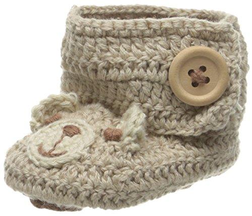 Baby Deer Boys' Crochet Bear Bootie Boot, Tan/Brown, 1 M US Infant