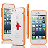 Apple iPhone 4 4s Ultra Thin Transparent Clear Hard TPU Case Cover England English Flag (Orange)