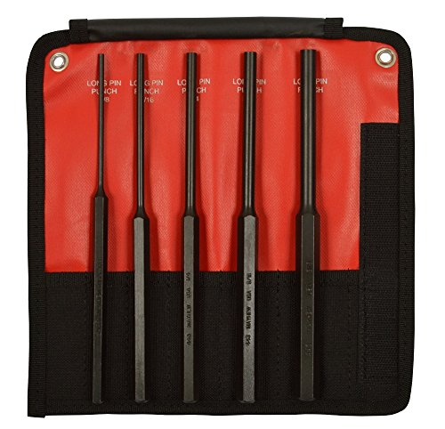 (Mayhew Pro 62065 5Piece Pin Punch Set with Extra Long Pin Lengths)