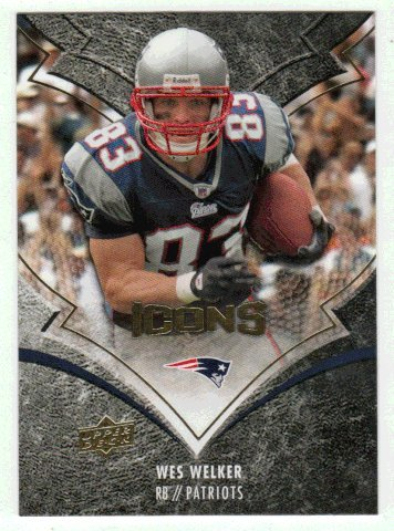 Wes Welker (Football Card) 2008 Upper Deck Icons # 61 (Icon 2008)