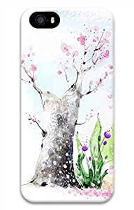 iPhone 5 5S Case Beautiful Illustrations 2 Tree Funny Lovely Best Cool Customize iPhone 5 Cover by supermalls
