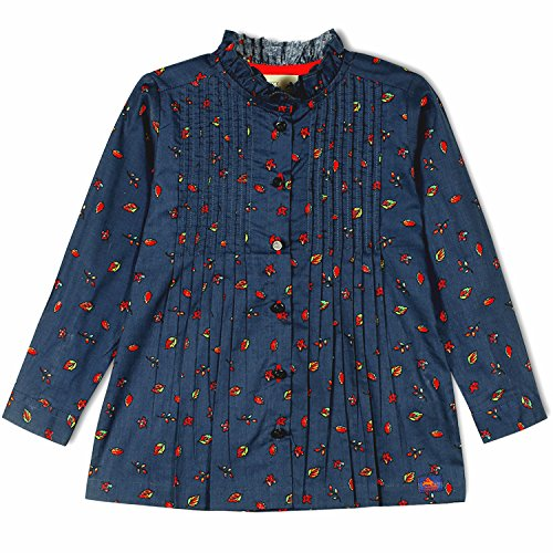 - cherry crumble california Petal Printed Woven Shirt Top (12-18 Months) Blue
