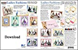 ScrapSMART - Ladies Fashions Cards & Envelopes: Software Collection - Microsoft Word, Jpg, and PDF files for Mac [Download]