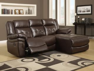 Monarch Specialties Bonded Leather/Match Reclining Sofa Lounger, Dark Brown (B00FHXIC2I) | Amazon price tracker / tracking, Amazon price history charts, Amazon price watches, Amazon price drop alerts