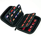Large Capacity 63 Slots Storage Case Holder for SD Cards, Switch Cartridges, PS Vita and SD Cards + 4 Micro SD cards slots
