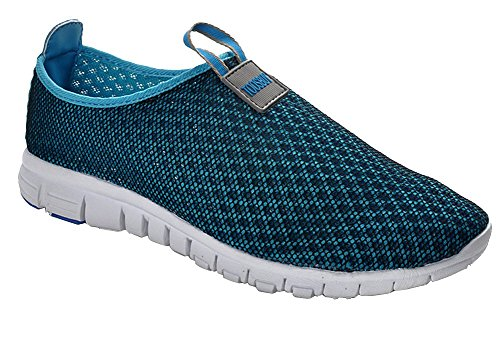 Atmungsaktive Laufsport Tennisschuhe, Beach Aqua, Outdoor, Sportlich, Regnerisch, Skifahren, Übung, Slip on Car Schuhe für Männer und Frauen Navy blau