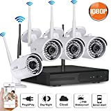 SW SWINWAY Wifi Security 2 Megapixel HD 1080P Waterproof Wireless System 4pcs Outdoor Home Security Camera System for iPhone, iPad, Android Smart Phone, No Hard Drive Review