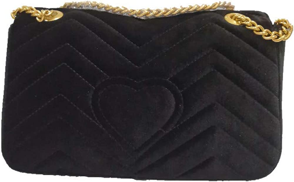 Quilted Purse Gold Metal...