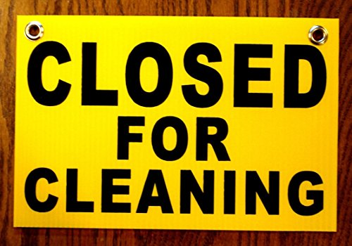 1Pc Matchless Popular Closed for Cleaning Coroplast Signs Outdoor Decal Shop Board 1-Side Printed Size 8