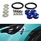 Automotive : iJDMTOY Blue Finish JDM Quick Release Fasteners For Car Bumpers Trunk aFender Hatch Lids Kit