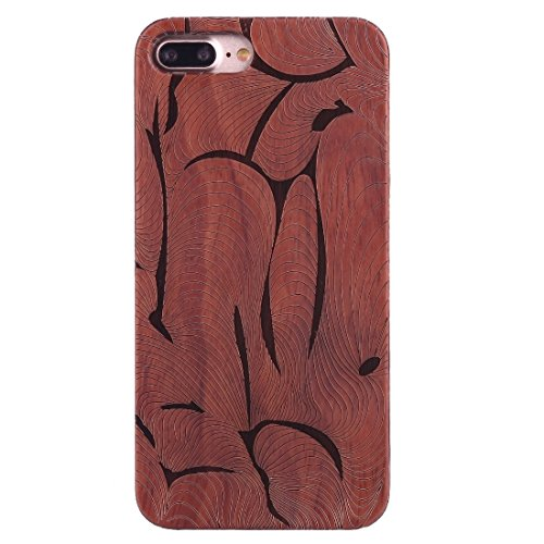 GR iPhone 7 Plus Abdeckung Fall -Artistic Carving Muster Rosewood + PC Bordure Schutzmaßnahmen zurück Fall Shell ( SKU : Ip7p1451p )