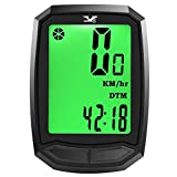 Dinoka Waterproof Bike Computer Wireless Bicycle Speedometer Large HD LCD Screen Display Odometer and High Accuracy for Powerful Magnet