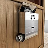 Hindom Modern Wall Mount Stainless Steel Lockable Mailbox, Large Letter box...