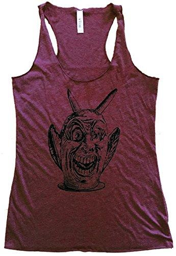 Friendly Oak Women's Halloween Devil Tank Top - XL - Heather Maroon ()