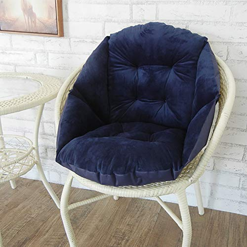Suede Garden Pillow - KTOL High Back Chair Pad, Patio Seat Cushion Chair Pads Seat Back Indoor Outdoor Cushion Not-Slip Soft Suede for Garden Office Chair Pad-Navy Blue 20x20x18.9in