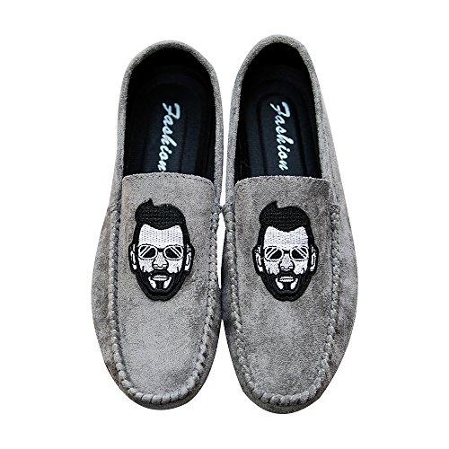 Zapatillas Calzado Hombre Gris Baolesem Mocasines Casual Conducción Para Plano Zapatos Verano UxIU8w4f
