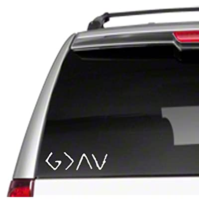"God is Greater Than Highs & Lows 6.5""Car Vinyl Sticker Decal G > Ups and Downs Christian Religious I Love Jesus is Great Good Saved Faith Trust hopeD2: Automotive"
