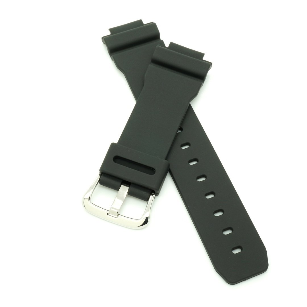 PERFIT Casio Replacement Watch Band + Spring Rods for G-Shock DW-9052 DW-9051 G-2200 G-2210 + others, Black