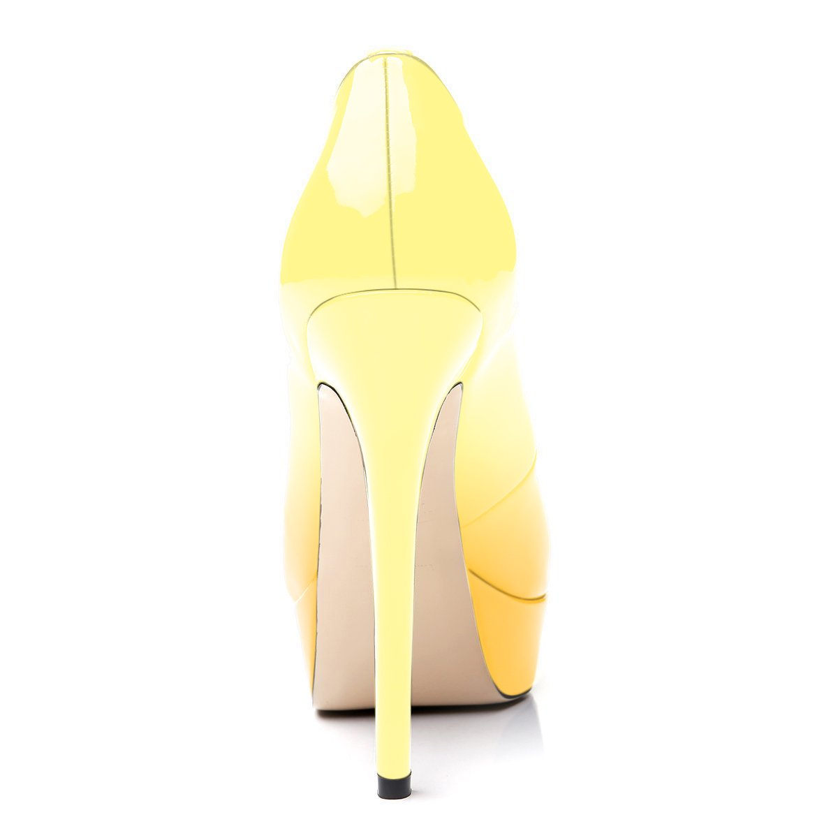 UBeauty Stilettos Damen Pumps Stilettos UBeauty High Heels Peep Toe Glitzer Übergröße Sandalens mit Plateau Gelb Farbverlauf a6e872
