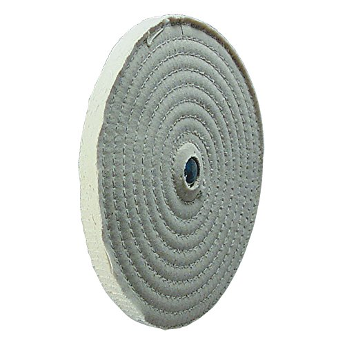 """10"""" Spiral Sewn Buffing Wheel 8455-36, Fits 3/4""""-7/8"""" Arbor Hole, Made in USA"""