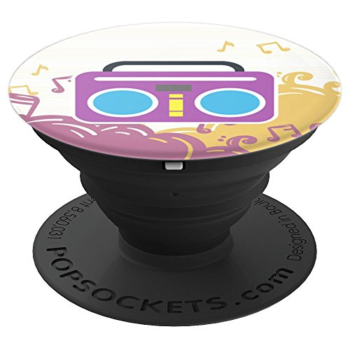 Cute Colorful Boombox Musical Instrument - Stand For Phone - PopSockets Grip and Stand for Phones and (Musical Boombox)