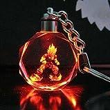Max-shop Super Saiyan Son Goku Crystal Key Chain Key Ring LED Pendant