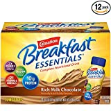 Carnation Breakfast Essentials Ready-to-Drink, Rich Milk Chocolate, 8 fl oz Bottle, 12 Count