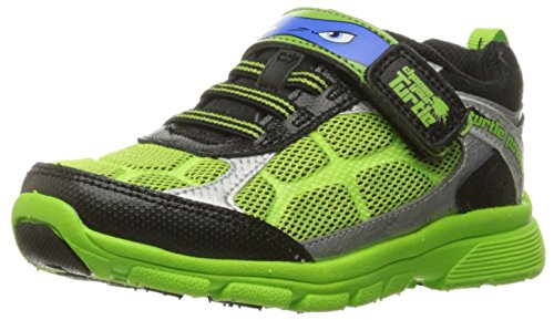 Stride Rite TMNT Radical Reptiles Lighted Sneaker (Toddler), Green, 9 M US Toddler