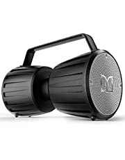 Bluetooth Speaker, Monster Adventurer Force IPX7 Waterproof Bluetooth Speaker 5.0 with Microphone Input for Karaoke, 40W Portable Bluetooth Speakers with 40H Playtime for Indoor Outdoor Party, Black